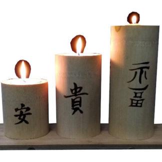 eco świecznik bambusowy
