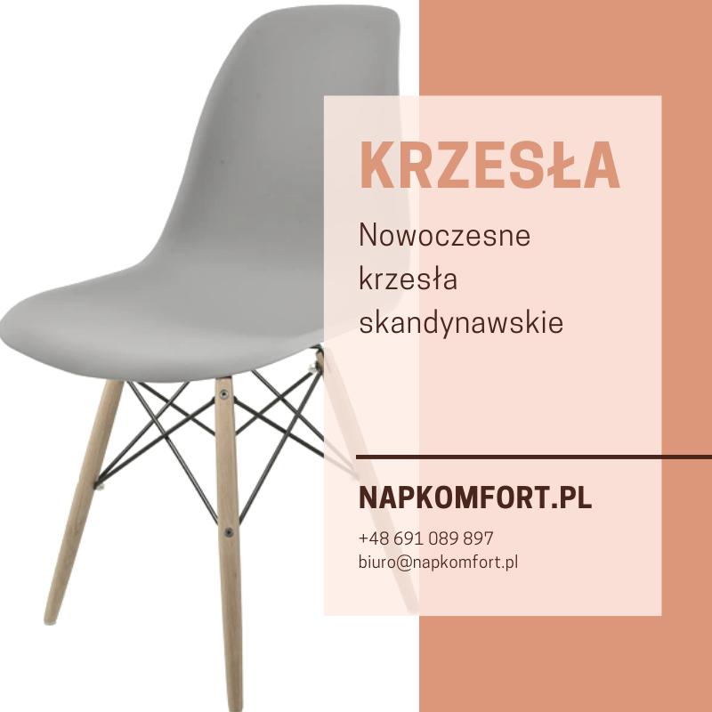 Krzesło w stylu skandynawskim szare