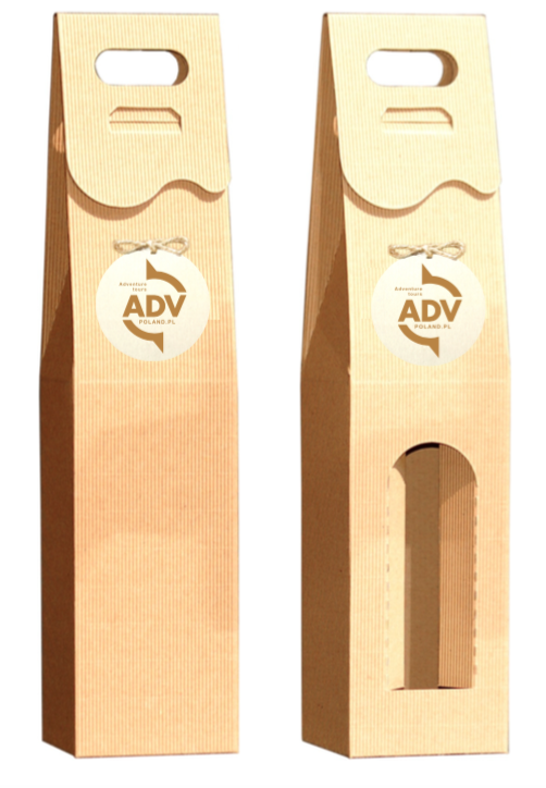 pudełka na wino z logo adv