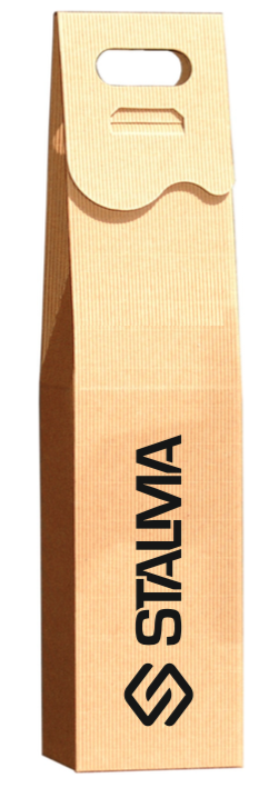 pudełka na wino z logo stalma