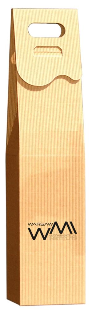 eco Pudełko ozdobne na wino z logo grawerowanym