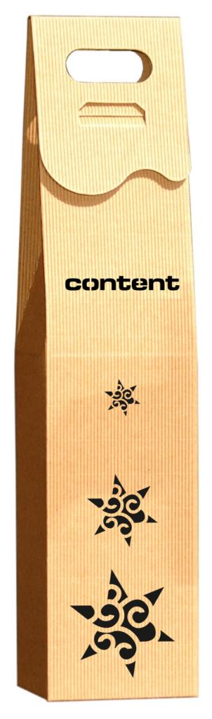 eco Pudełko ozdobne na wino z logo grawer