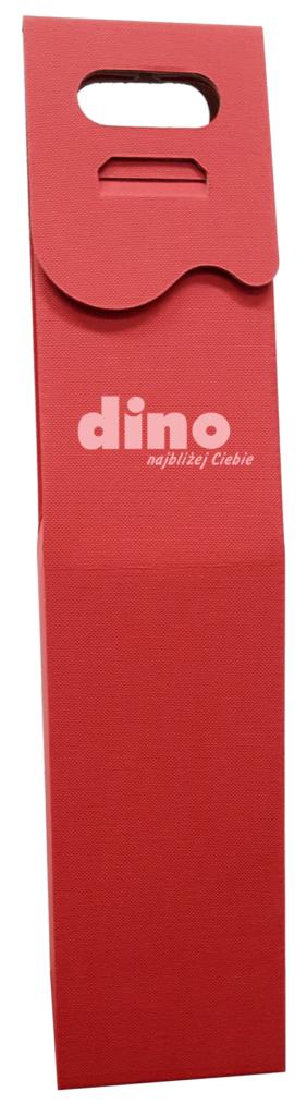 czerwone Pudełko ozdobne na wino z logo dino