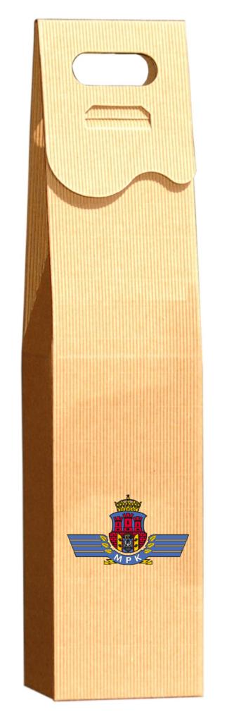 eco Pudełko ozdobne na wino z logo w kolorze