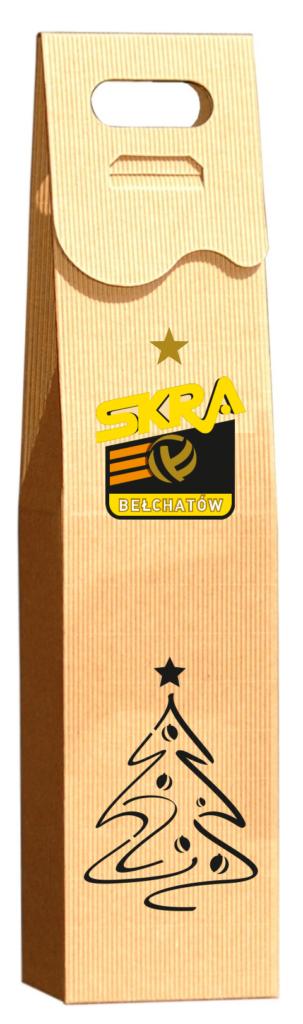 eco Pudełko ozdobne na wino z logo skra