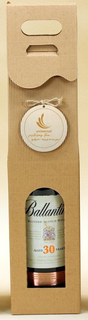eco Pudełko ozdobne na wino z logo zawieszka