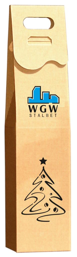 eco Pudełko ozdobne na wino z logo kolor
