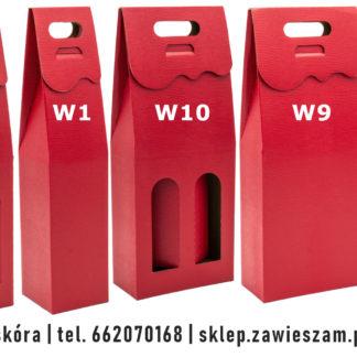 Kolorowe pudełko na butelki P102 - czerwona skóra