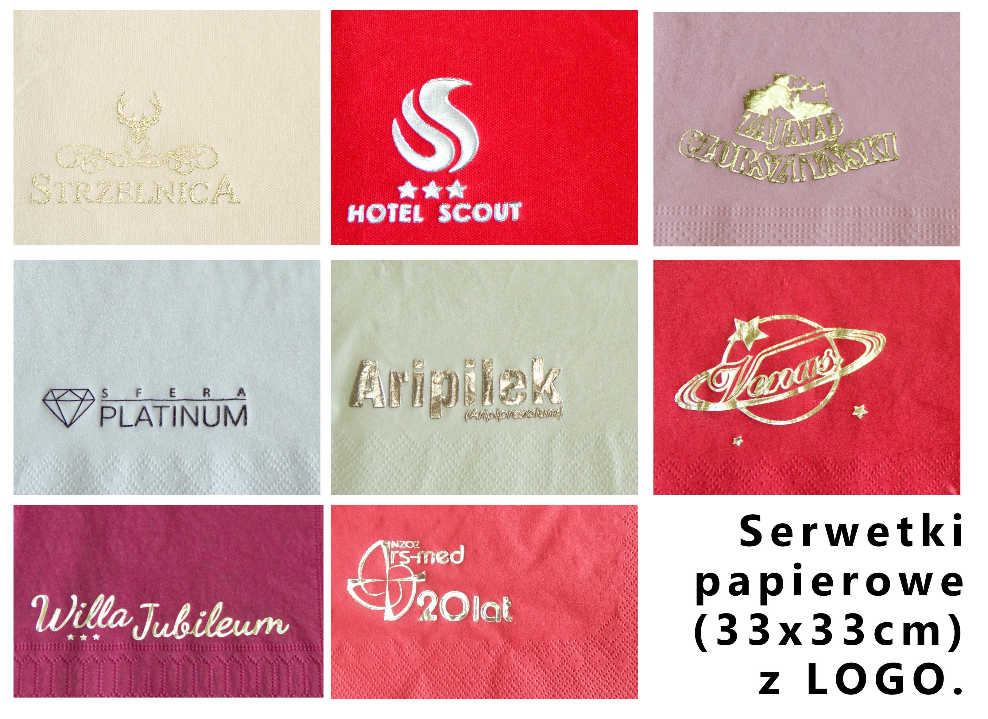 serwetki papierowe z logo