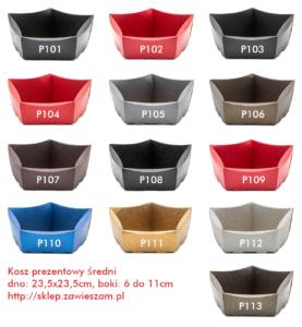 koszyk na prezenty średni kolorowy 23,5×23,5cm W14